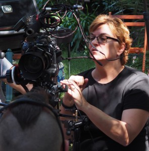 "Sue Jereczek on location for ""Welcome to the Jungle"""